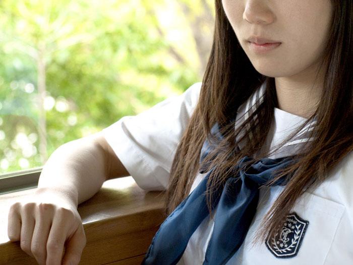 高校生の若白髪